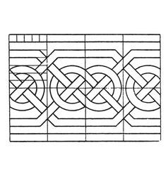 Northern interlacement band is a scandinavian vector