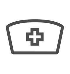 Nurse hat icon in trendy flat style design vector