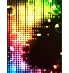 Octagon neon glowing background vector
