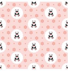 panda bapattern seamless vector image