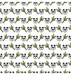 Panda pattern vector