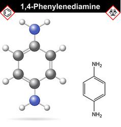 Para Phenylenediamine chemical structure vector image