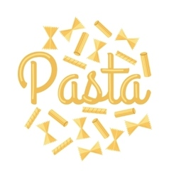 Pasta Concept in Flat Design vector