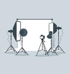 photo equipment in photography studio vector image