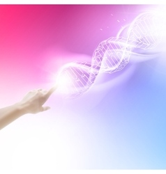 Purple background with DNA vector