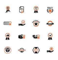 Quality icon set vector