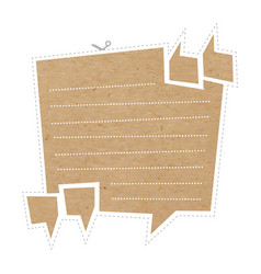 Quote bubble on cardboard vector