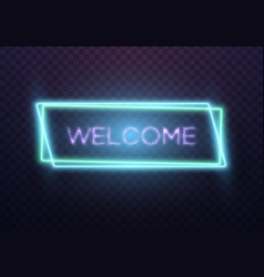 Realistic neon sign vector