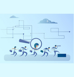 Recruitment zoom magnifying glass picking business vector