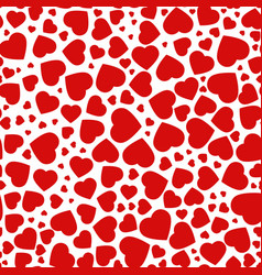 red purple heart seamless pattern icons vector image