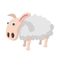 Sheep cartoon icon vector image