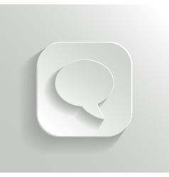 Speech icon - white app button vector image