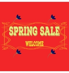 Spring sales background with flowers Can also be vector