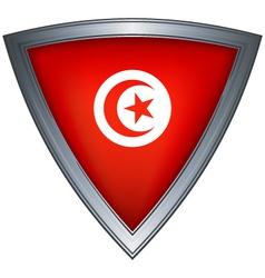 steel shield tunisia vector image