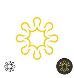 Sun linear logo Power energy concept symbol vector image vector image