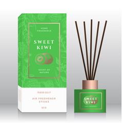 Sweet kiwi home fragrance sticks abstract vector