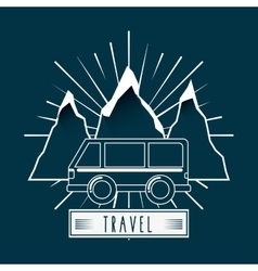 Travel concept design vector