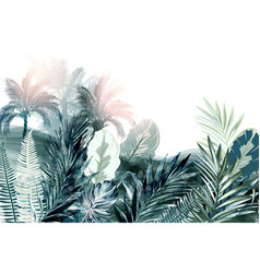 tropical background or wallpaper poster with palm vector image