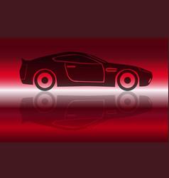 Two door sports car vector