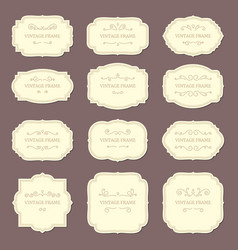 vintage label frames old ornamental labels vector image