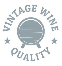 vintage wine logo simple gray style vector image