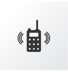walkie-talkie icon symbol premium quality vector image