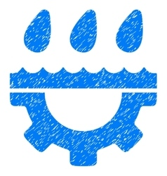 Water gear drops grainy texture icon vector