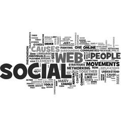 Web a social phenomenon text word cloud concept vector