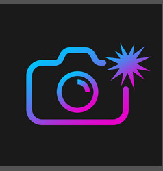 web icon of modern line art camera camera with vector image