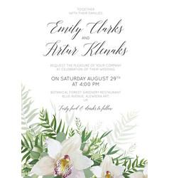 wedding invitation invite save date card vector image