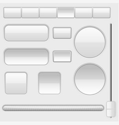 white blank buttons web interface icons vector image