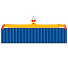 Container on crane vector image