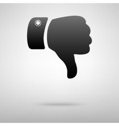 Dislike sign black icon vector image vector image