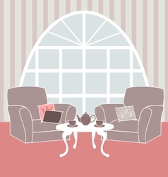 retro living room vector image vector image