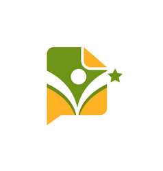 sport fitness medical education logo vector image