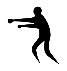 Sportsman man boxer on a white background vector image vector image