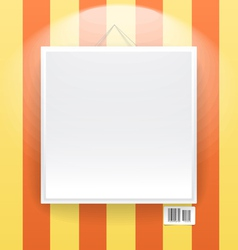 Blank frame on the wall of line wallpapers vector image