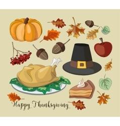 Happy Thanksgiving set vector image