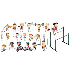 People doing different kinds of sports vector image vector image