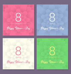 set of abstract floral greeting card - vector image vector image