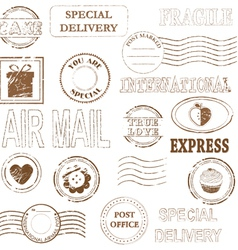 Stamp set collection vector