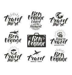 travel label set journey icons or symbols vector image