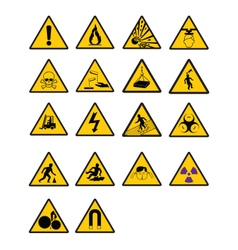 Warning Safety signs vector image vector image