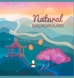 asian natural background vector image vector image