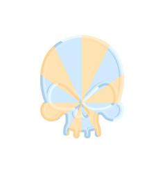 Caramel skull sweet skeleton head halloween scary vector