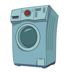cartoon image of washing machine vector image vector image
