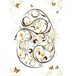 Easter theme vector image vector image