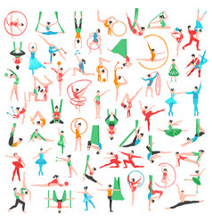 gymnastics and ballet big set vector image