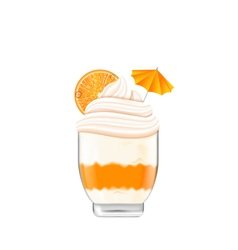 Icecream with Whipped Cream vector image vector image