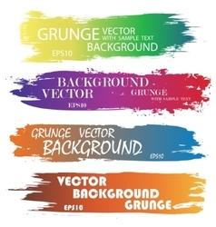 Ink blots splash color vector image vector image